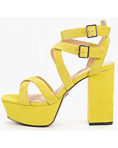 Босоножки на каблуке желтый Topshop