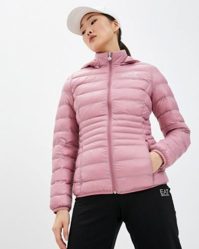 Утепленная розовая куртка Ea7