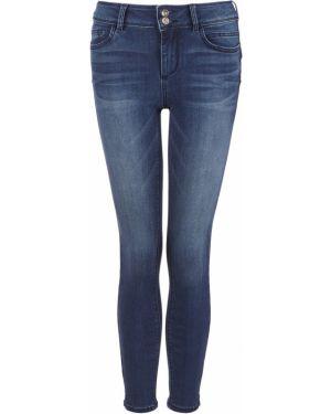 Синие джинсы-скинни с пайетками скинни Tom Tailor