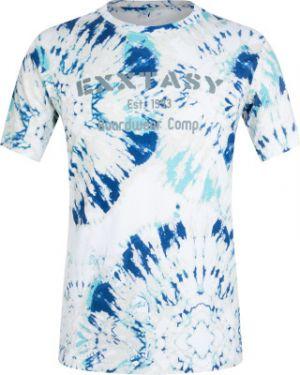 Зауженная хлопковая белая спортивная футболка Exxtasy