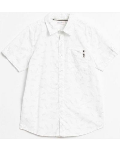 Рубашка свободного кроя сафари с аппликациями Coccodrillo