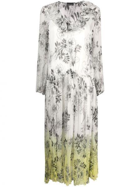 Платье миди макси с цветочным принтом Ermanno Ermanno