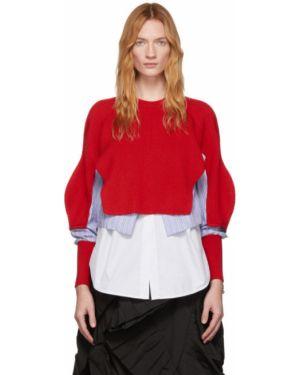 Sweter z kołnierzem niebieski Enfold