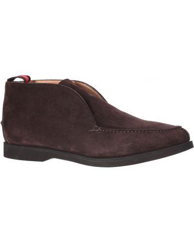 Кожаные ботинки - коричневые Kiton