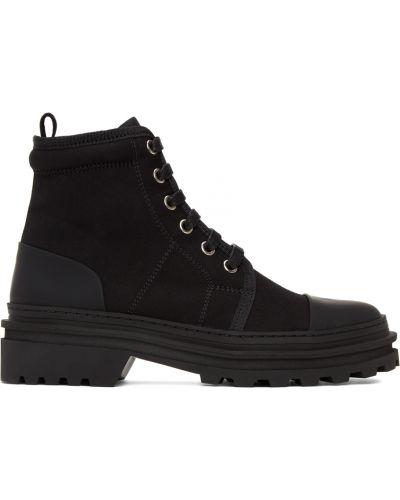 Черные парусиновые ботинки A.p.c.