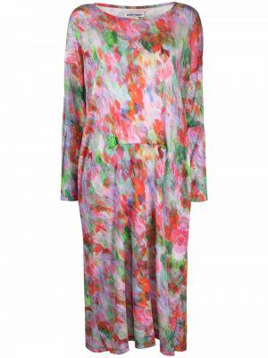 Розовое платье с вырезом Henrik Vibskov