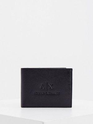 Кожаный портмоне - черный Armani Exchange