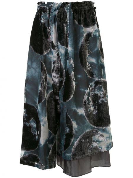 Асимметричная с завышенной талией юбка миди в рубчик с поясом Y`s