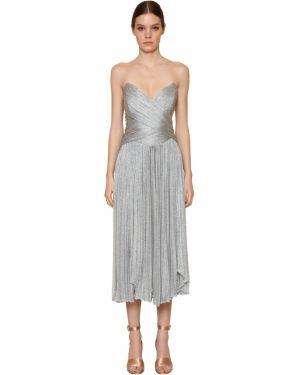 Платье миди - серебряное Maria Lucia Hohan