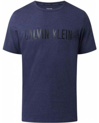 Piżama bawełniana - niebieska Calvin Klein Underwear