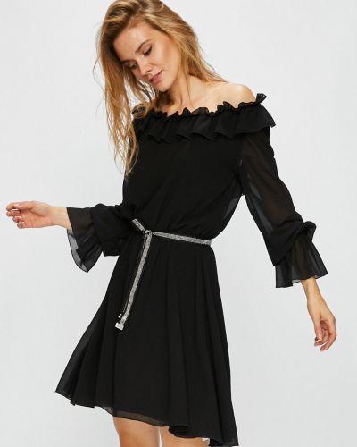 Платье мини с поясом однотонное Liu Jo