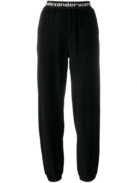 Спортивные прямые хлопковые черные спортивные брюки T By Alexander Wang