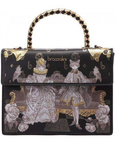 Черная итальянская сумка Braccialini