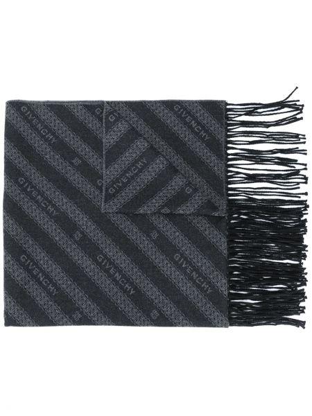 Wełniany szalik z logo Givenchy