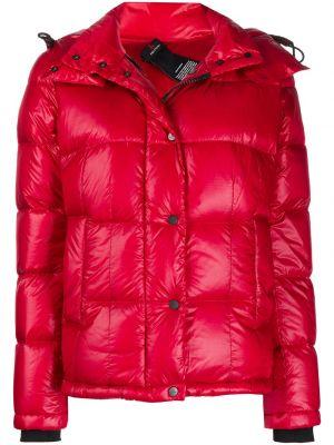 Красная классическая куртка с капюшоном с карманами с перьями Peuterey
