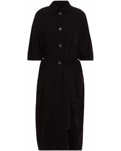 Текстильное пальто с накладными карманами винтажное American Vintage