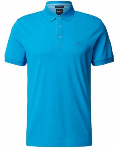 T-shirt bawełniana - turkusowa Boss Athleisurewear