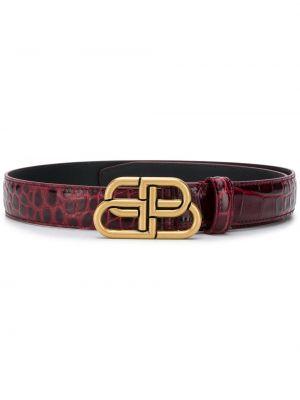 Золотистый кожаный красный тонкий ремень узкого кроя Balenciaga