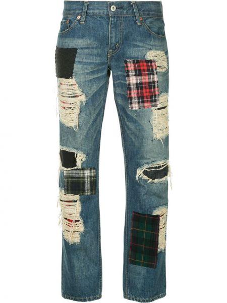 Хлопковые синие джинсы варенки винтажные на пуговицах Junya Watanabe Comme Des Garçons Pre-owned
