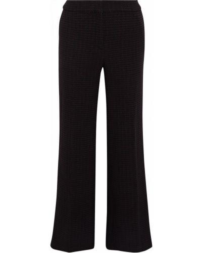Шерстяные черные брюки свободного кроя Ba&sh