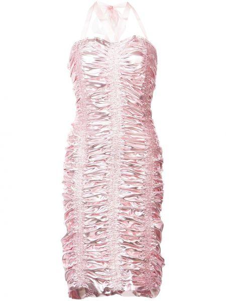 Платье миди розовое на бретелях Neith Nyer