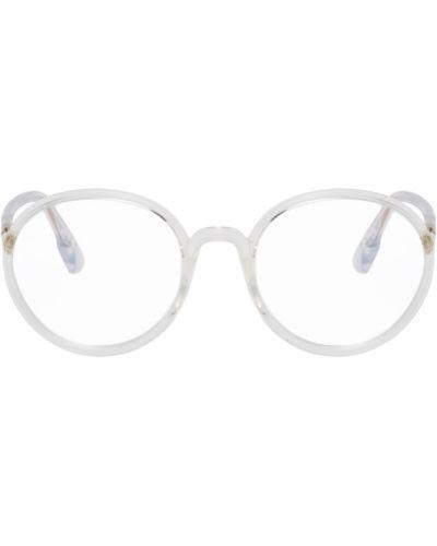 Очки для зрения круглые прозрачные золотые Dior