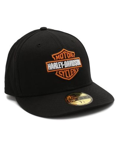 Хлопковая черная бейсболка Harley Davidson