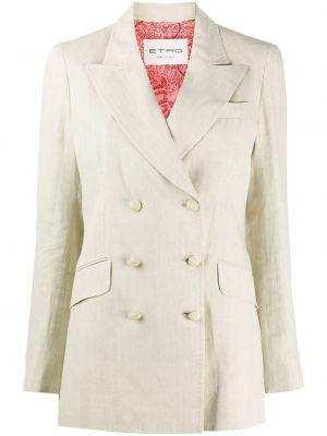 Пиджак двубортный с карманами из вискозы Etro
