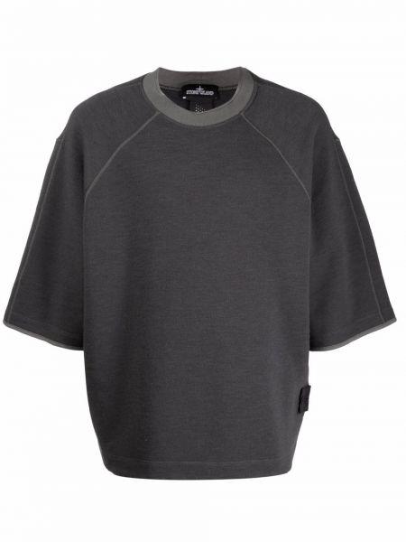 Хлопковая футболка - серая Stone Island Shadow Project