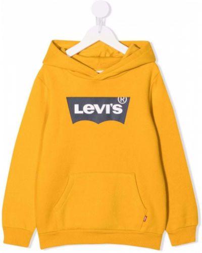 Żółta bluza z printem Levis Kids