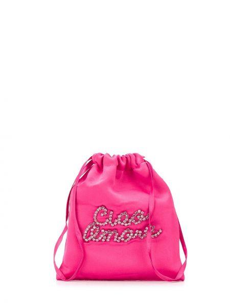 Różowa torebka srebrna Giada Benincasa