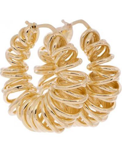 Kolczyki ze sztyftem złoto Bottega Veneta