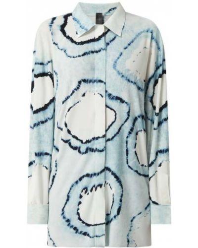 Bluzka dzianinowa turkusowa na rzepy Norma Kamali