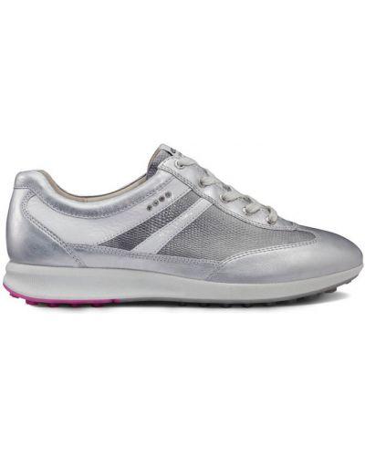 Кожаные кроссовки мембранные белый Ecco