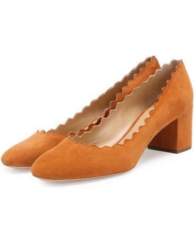 Коричневые туфли Chloé