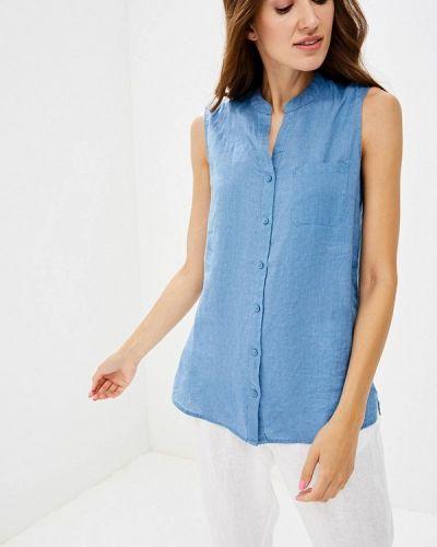 Голубая блузка без рукавов Iwie