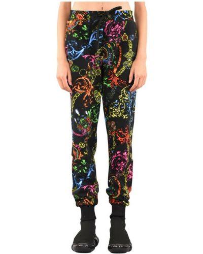 Czarne joggery Versace Jeans Couture