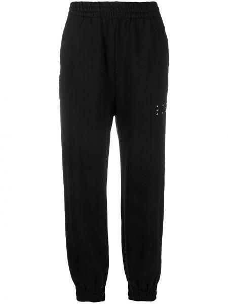 Базовые хлопковые черные спортивные брюки с поясом Mcq Alexander Mcqueen