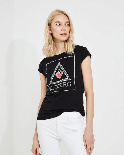 Черная футболка Iceberg
