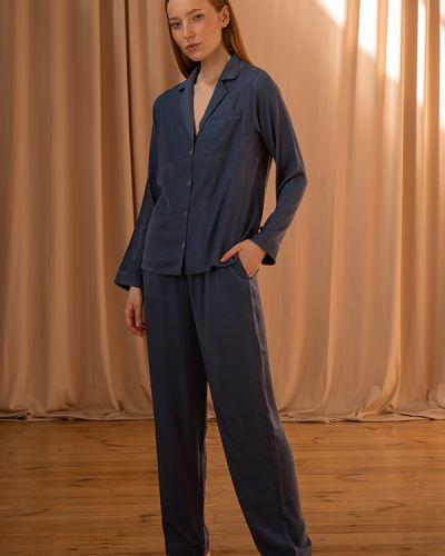 Шелковый костюм - голубой Forli