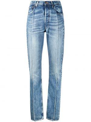 Синие с завышенной талией прямые джинсы Maison Margiela