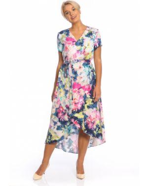 Летнее платье с запахом с V-образным вырезом Merlis