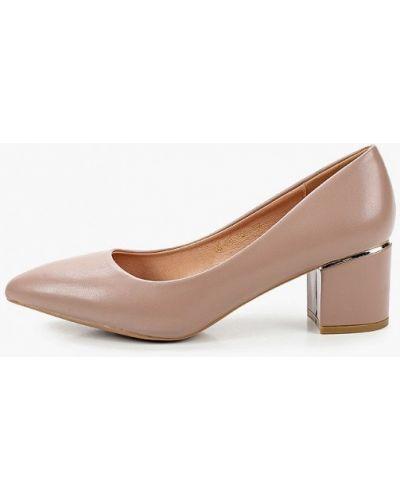 Кожаные туфли - розовые Diora.rim