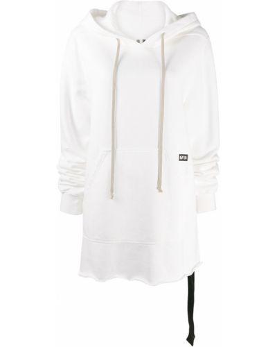 Белая кофта с капюшоном Rick Owens Drkshdw