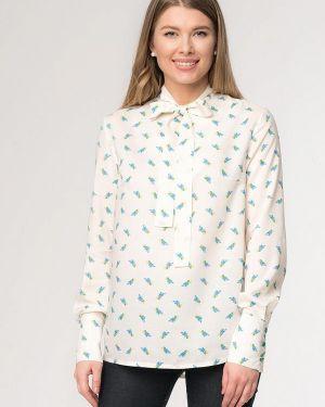 Блузка с длинным рукавом белая весенний A'tani