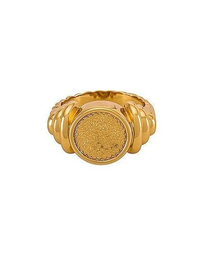 Złoty pierścionek pozłacany z bursztynem Amber Sceats