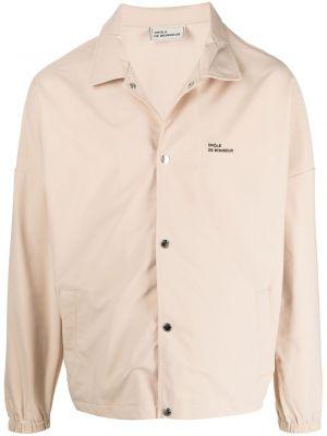 Beżowa koszula z długimi rękawami z printem Drole De Monsieur