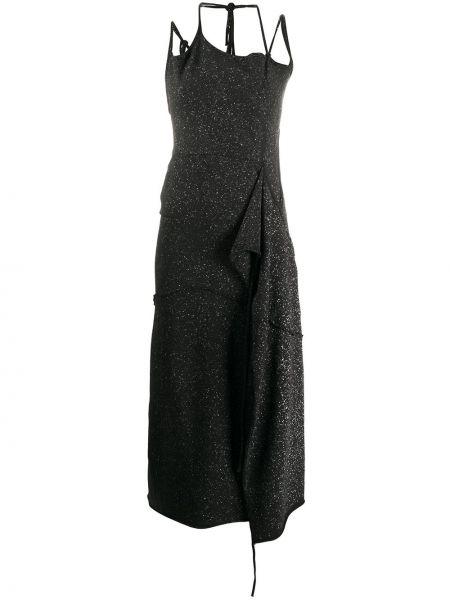 Тонкое платье миди на бретелях с вырезом на молнии Ottolinger