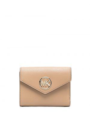 Золотистый кожаный кошелек золотой Michael Michael Kors