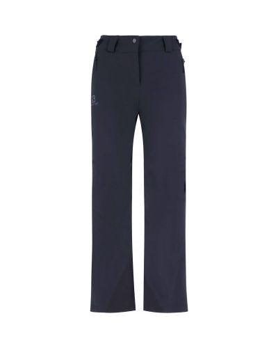Синие утепленные горнолыжные брюки свободного кроя Salomon